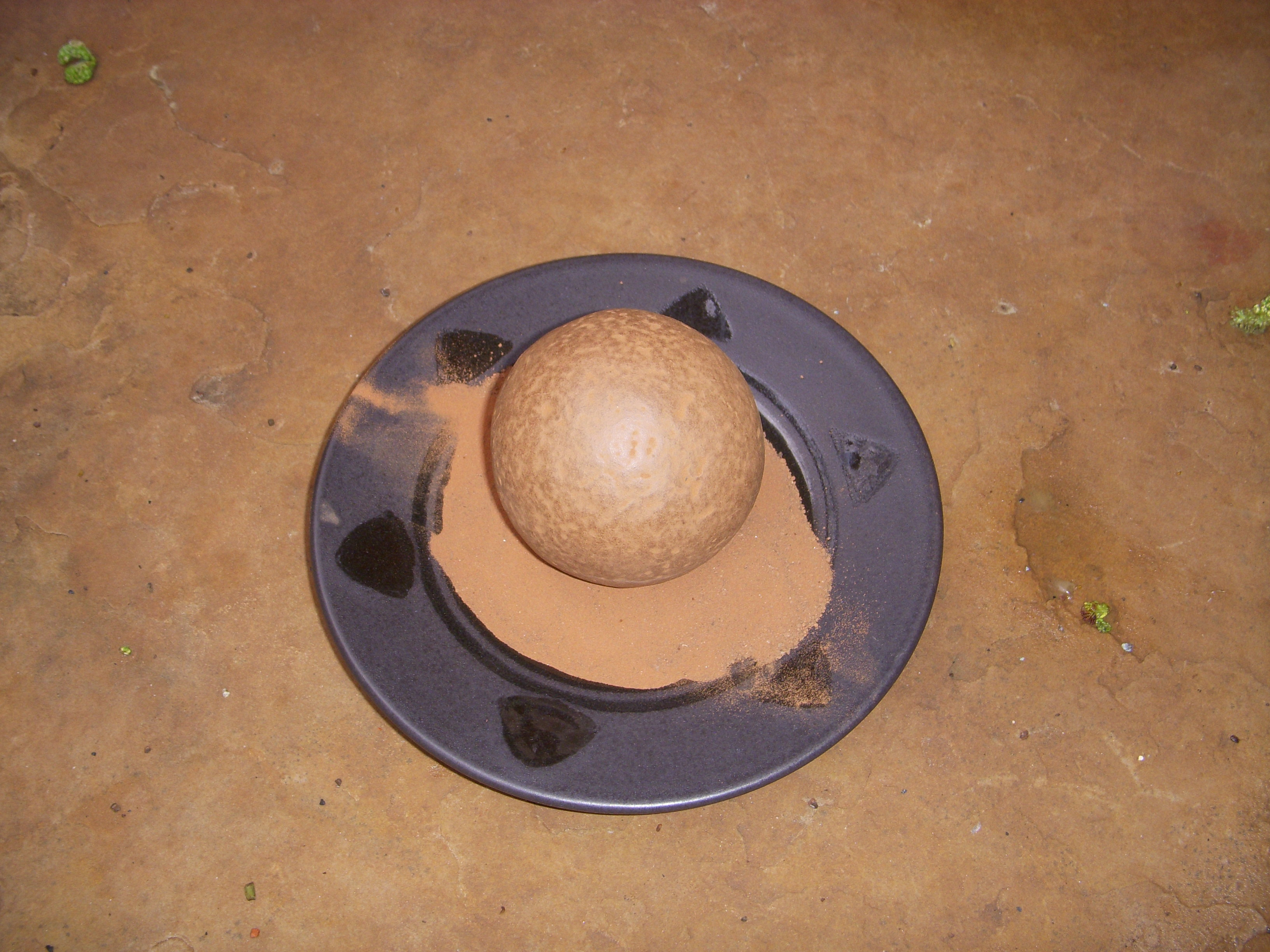 My first dorodango, from a deposit of soil in Sedona, AZ