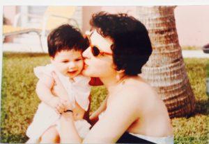 Mom and me, Miami, 1957